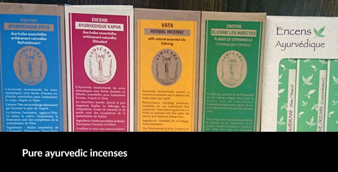 Pure ayurvedic incenses
